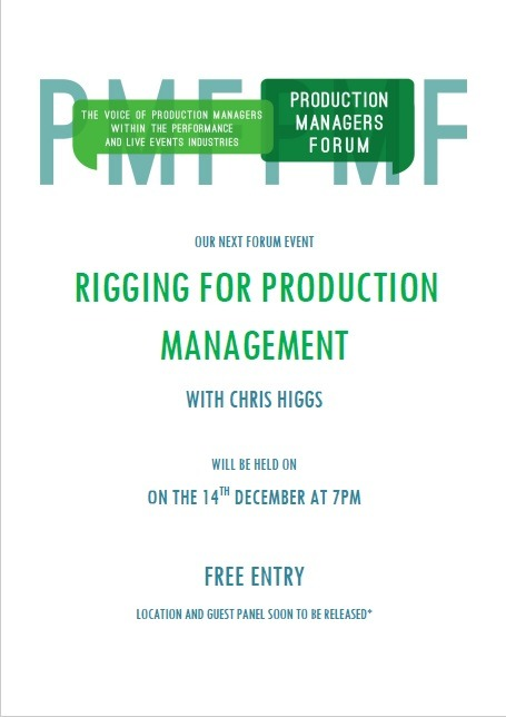 Rigging For Production Management Forum